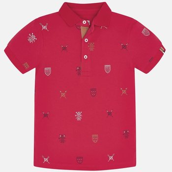 Mayoral Mayoral All Over Schildjes Polo Rood