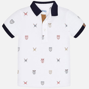 Mayoral Mayoral All Over Schildjes Polo Wit