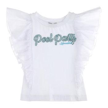 Monnalisa Monnalisa Summer Party Ruffle 'Pool Party' Top