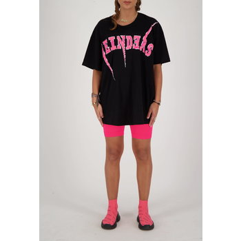 Reinders Reinders Bolt Oversized T-Shirt  True Black/Pink Neon