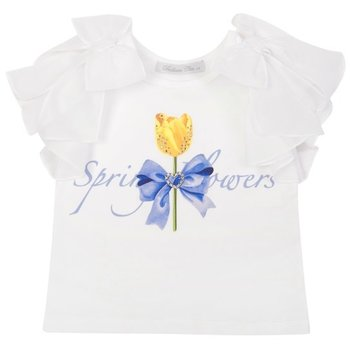 Balloon Chic Balloon Chic Roos 'Spring Flowers'  T-shirt Wit
