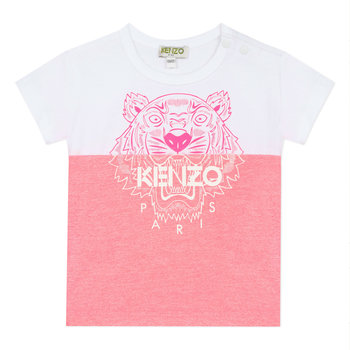 Kenzo Kenzo Tijger Half/Half T-shirt Roze/Wit