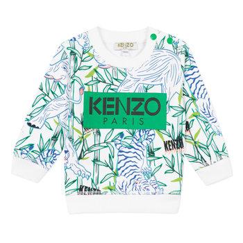 Kenzo Kenzo Wildlife Sweater Groen/Wit