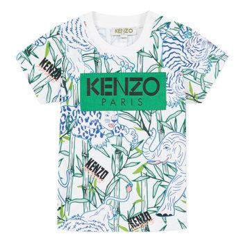 Kenzo Kenzo Wildlife T-shirt Groen/Wit