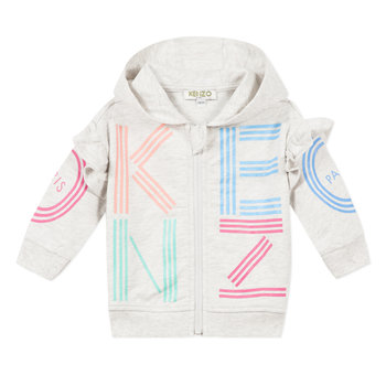 Kenzo Kenzo Logo Joggingsvest Grijs/Roze