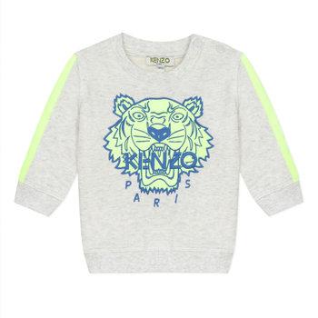 Kenzo Kenzo Tijger Sweater Grijs/Lime