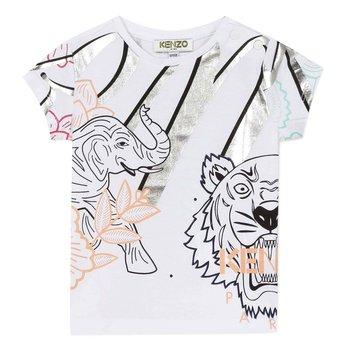 Kenzo Kenzo Olifant T-shirt Wit/Zilver