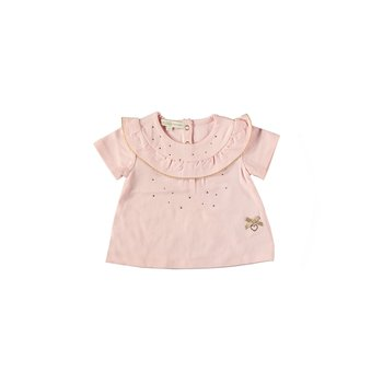 Le Chic Le Chic Ruffle Strass T-shirt Roze