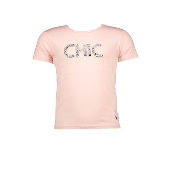 Le Chic Le Chic Strass 'Chic' T-shirt Roze