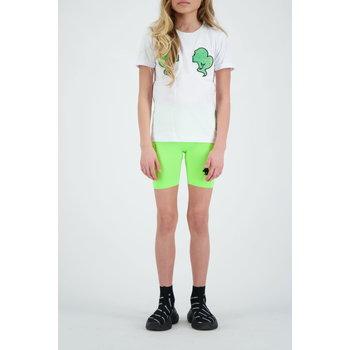 Reinders Reinders 'Headlogo' T-shirt White/Neon Green