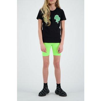 Reinders Reinders 'Headlogo' T-shirt Black/Neon Green