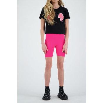 Reinders Reinders 'Headlogo' T-shirt Black/Neon Pink
