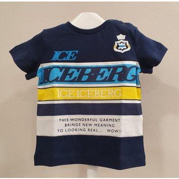 Iceberg Iceberg Shirt Donkerblauw/Geel