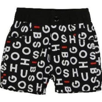 Hugo Boss Hugo Boss Zwemshort met Letters Zwart