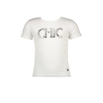 Le Chic Le Chic Strass 'Chic' T-shirt