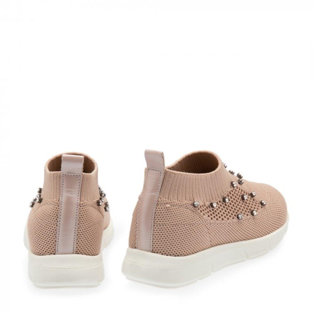 Babywalker Babywalker Sneakers met Swarovski Nude
