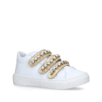 Babywalker Babywalker Sneaker met Strass Wit Goud