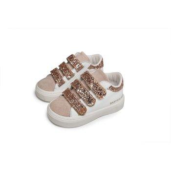 Babywalker Babywalker Sneakers met Glitters Wit/Nude