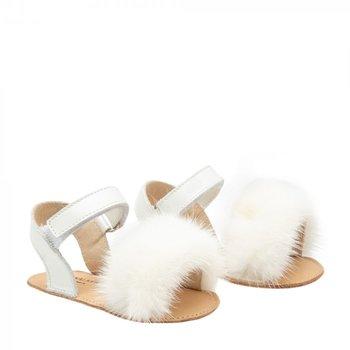 Babywalker Babywalker Sandaaltjes met Bontje Creme
