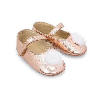 Babywalker Babywalker Ballerina's met Bontje Rosé Goud