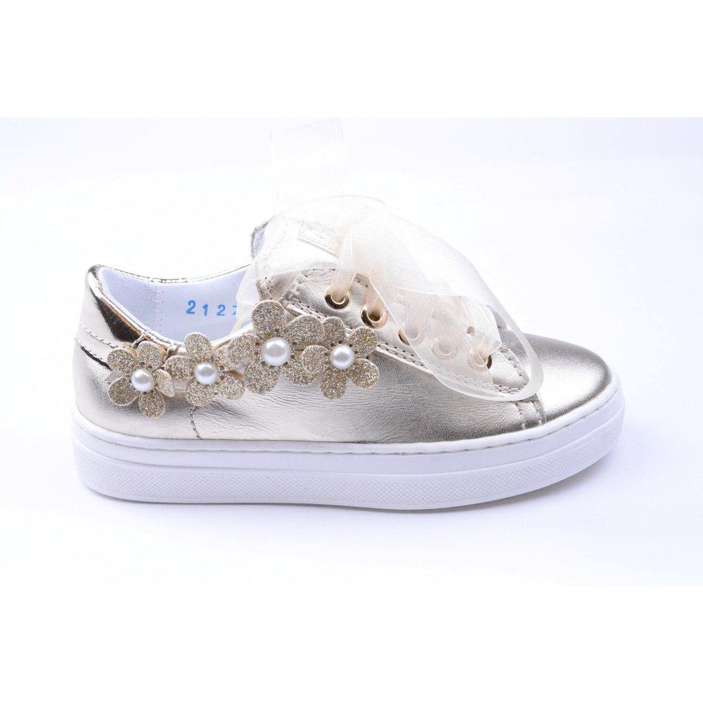 Beberlis Beberlis Sneaker Flower Goud