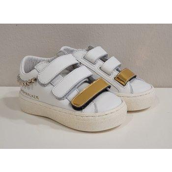 Babywalker Babywalker Sneaker met Strass Wit/Goud