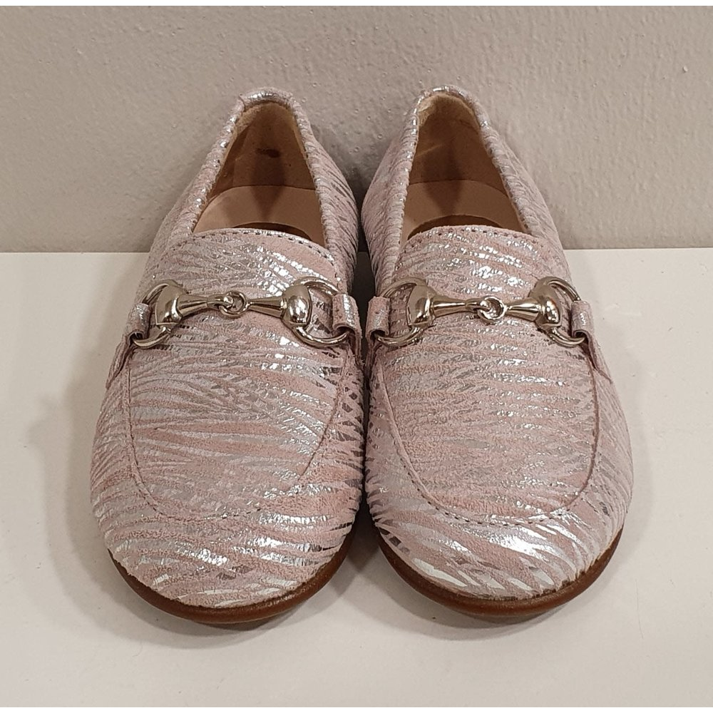 Beberlis Beberlis Loafers Roze/Zilver