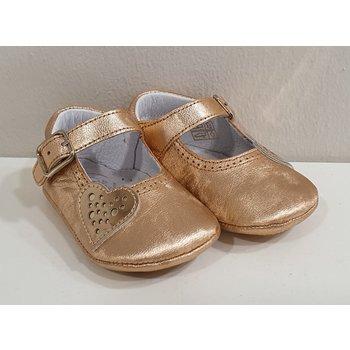 Beberlis Beberlis Babyschoentjes met Hartje Rosé Goud