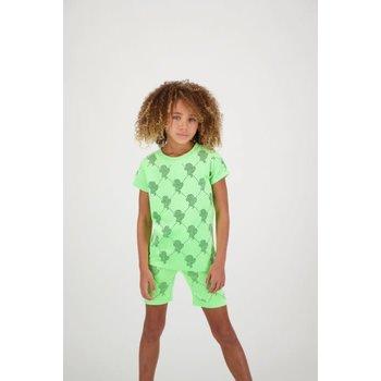 Reinders Reinders T-Shirt Velevet Logo Mania Neon Green