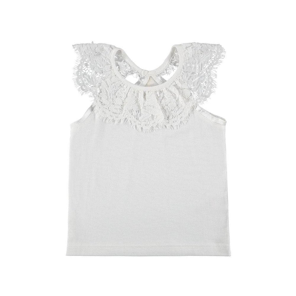 Angel's Face Angel's Face Top met Kant Offwhite