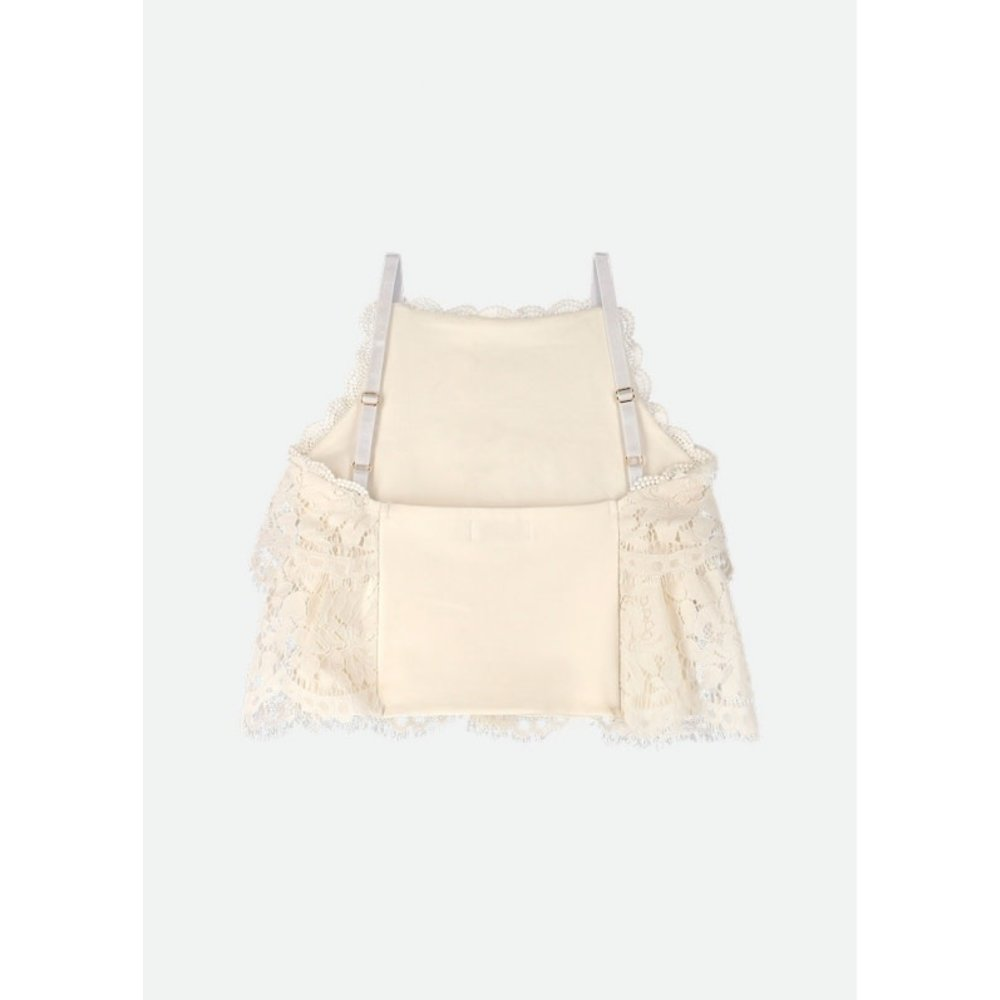 Angel's Face Angel's Face Kanten Top Offwhite