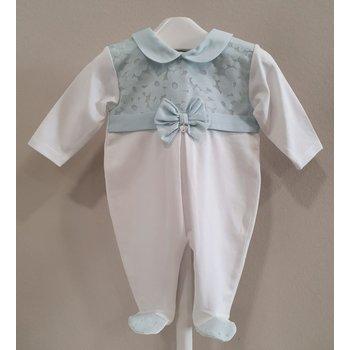 Ninnaoh Ninnaoh Babypakje met Mutsje Wit/Licht Blauw