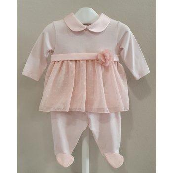 Ninnaoh Ninnaoh 2-delig Babypakje met Mutsje Roze