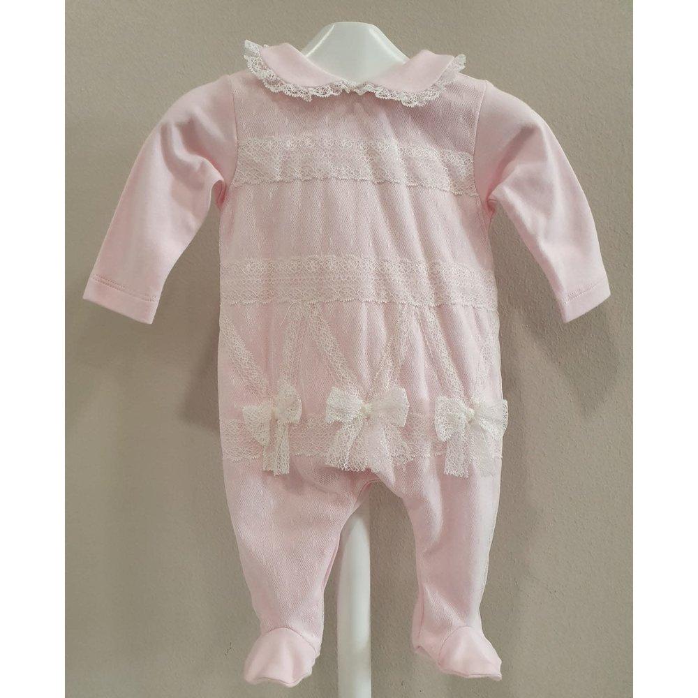 Aletta Aletta Babypakje met Strikjes Roze
