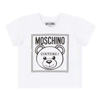 Moschino Moschino Shirt met Beer Wit/Zwart