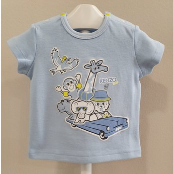 Kenzo Kenzo Shirt met Wilde Diertjes Licht Blauw