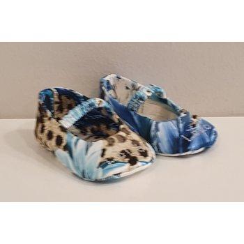 Lolo Lolo Babyschoentjes Luipaard Blauw