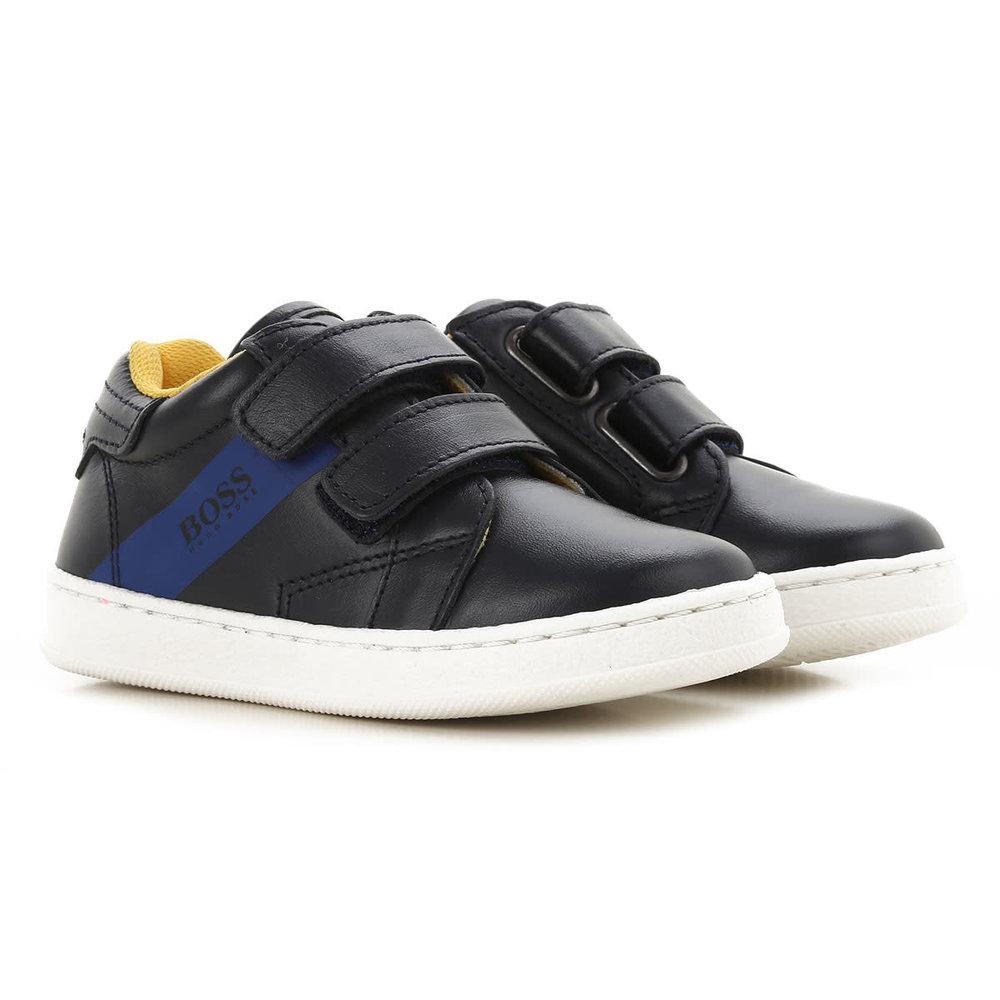 Hugo Boss Boss Sneakers met Klittenband Blauw/Geel