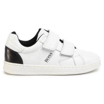 Hugo Boss Boss Sneakers met Klittenband Donkerblauw/Wit