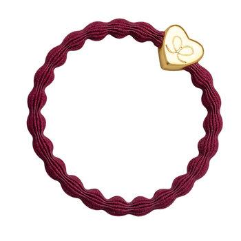 byEloise byEloise Gold Heart Burgundy Red
