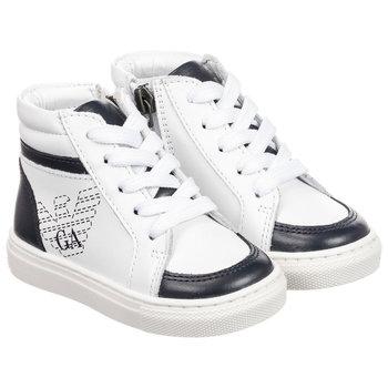 Armani Armani Hoge Sneakers Wit/Blauw