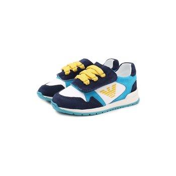 Armani Armani Sneakers Blauw/Aqua/Geel
