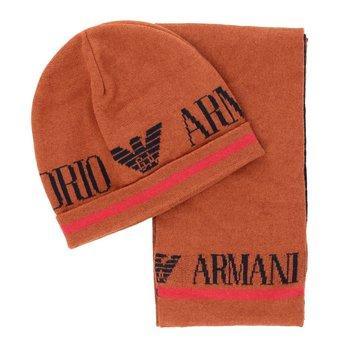Armani Armani Muts en Sjaal Roestbruin mt 92-98