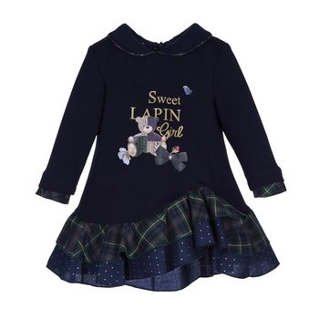 Lapin house Lapin House Jurk Sweet Girl Donkerblauw