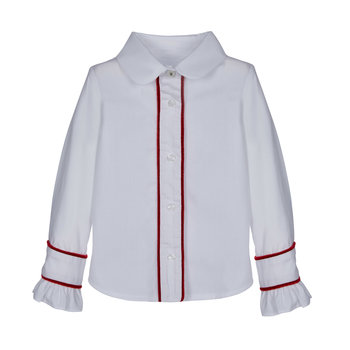 Lapin house Lapin House Blouse Wit/Rood