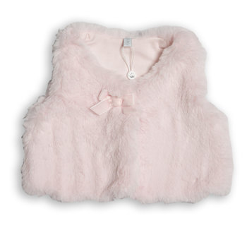 First First Teddy Gilet Roze
