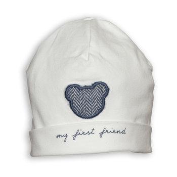 First First Babymutsje met Blauw Beertje