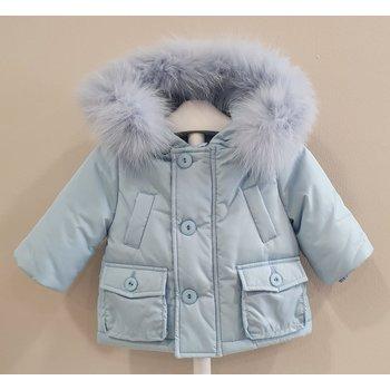 Bimbalo Bimbalo Winterjas Lichtblauw