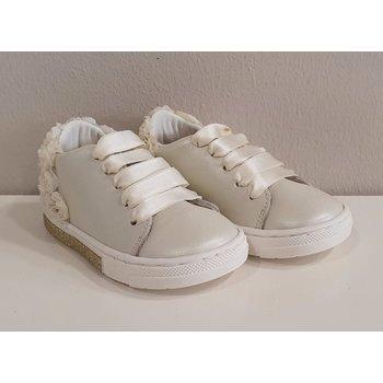 Babywalker Babywalker Sneakers met Roosjes Creme