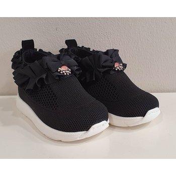 Babywalker Babywalker Sneakers met Ruffle Zwart